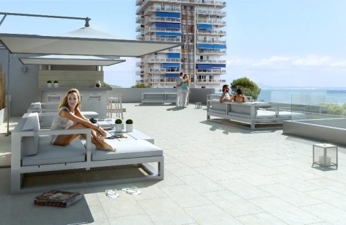 Newly built apartments with sea views